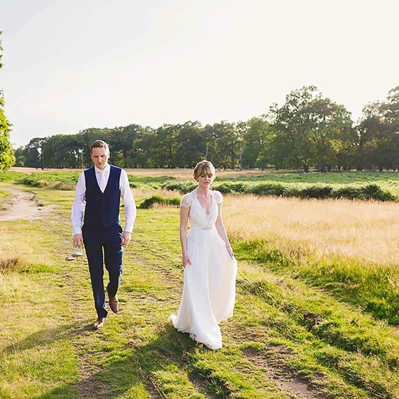 kreativ bryllupsfotos